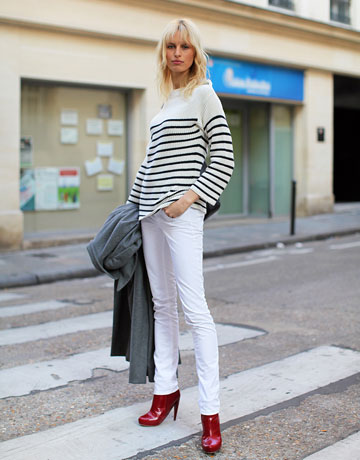 Jeans white color for women