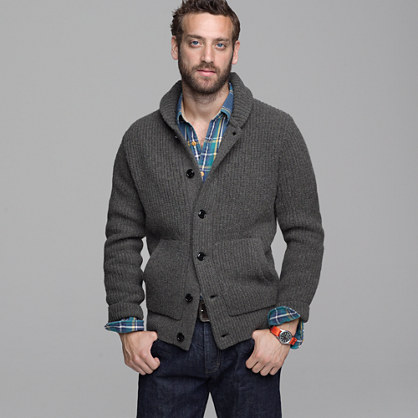 Shawl Collar Cardigan Men