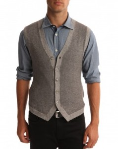 Sleeveless Cardigan Men