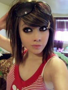 emo girl hairstyles for short hair