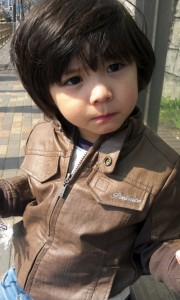 korean baby boy and jacket
