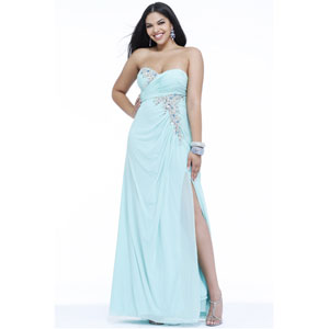 prom dress that is short in the front and long in the back