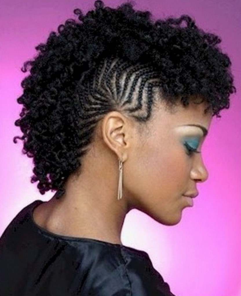 Awe Inspiring Cornrows Mohawk Hairstyles For Black Women Heey Fashion Style Hairstyles For Women Draintrainus