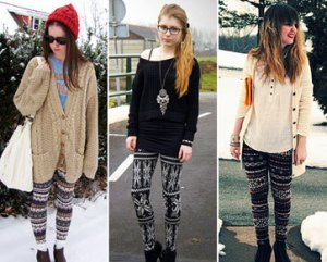 Legging with blazer
