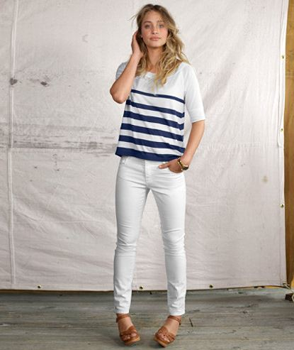 Cute summer outfits with white jeans - Fall Outfits, Fall Dresses ...