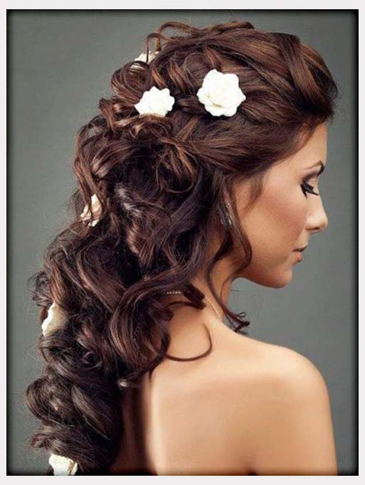 Hairstyles Fashion : Great Wedding Hairstyles With Flowers - Heey Fashion Style