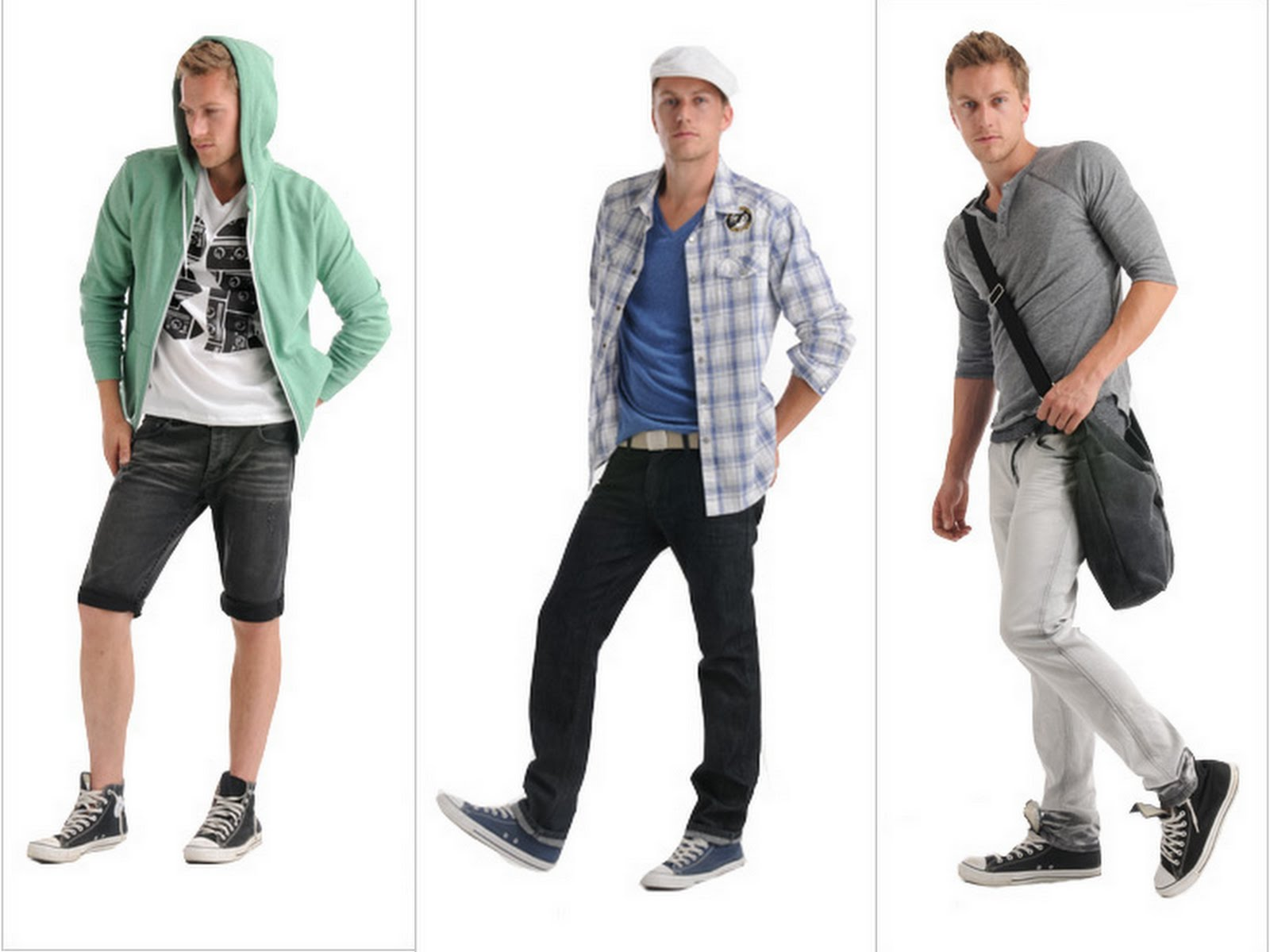 Blue Colors Combinations for Men's Fashion Clothing