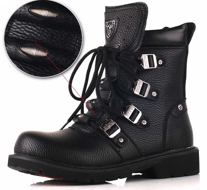 Hot Sale 2015 Fashion Military Combat Men S Martin Boots High