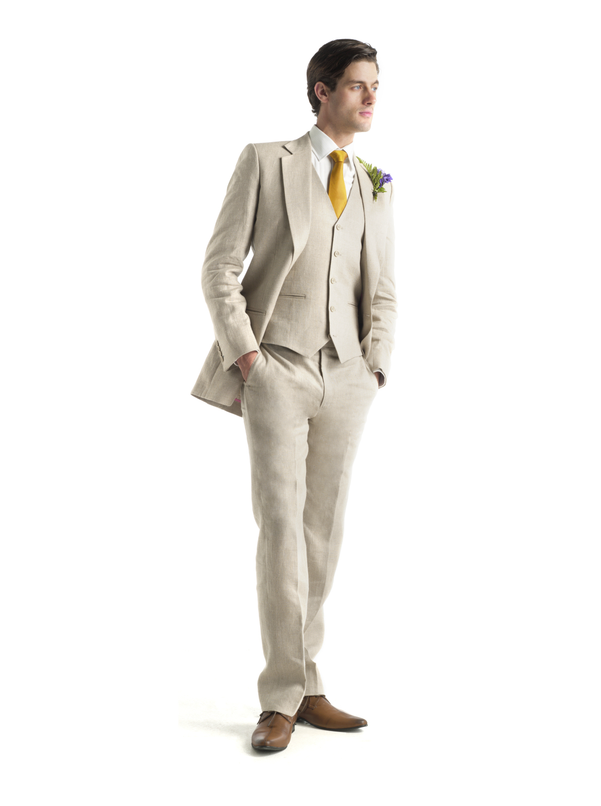 Linen Three Piece from A Suit That Fits