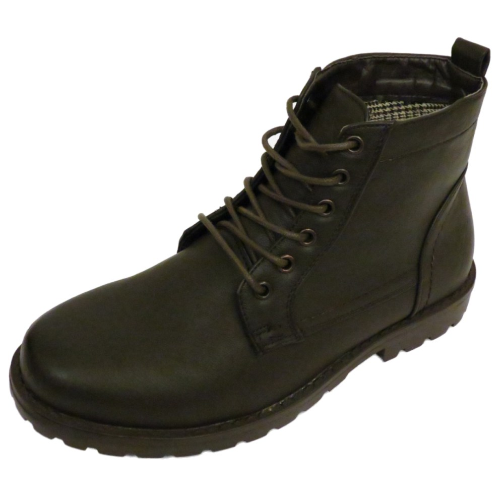 MENS BROWN COMBAT MILITARY ARMY ANKLE BOOTS SHOES