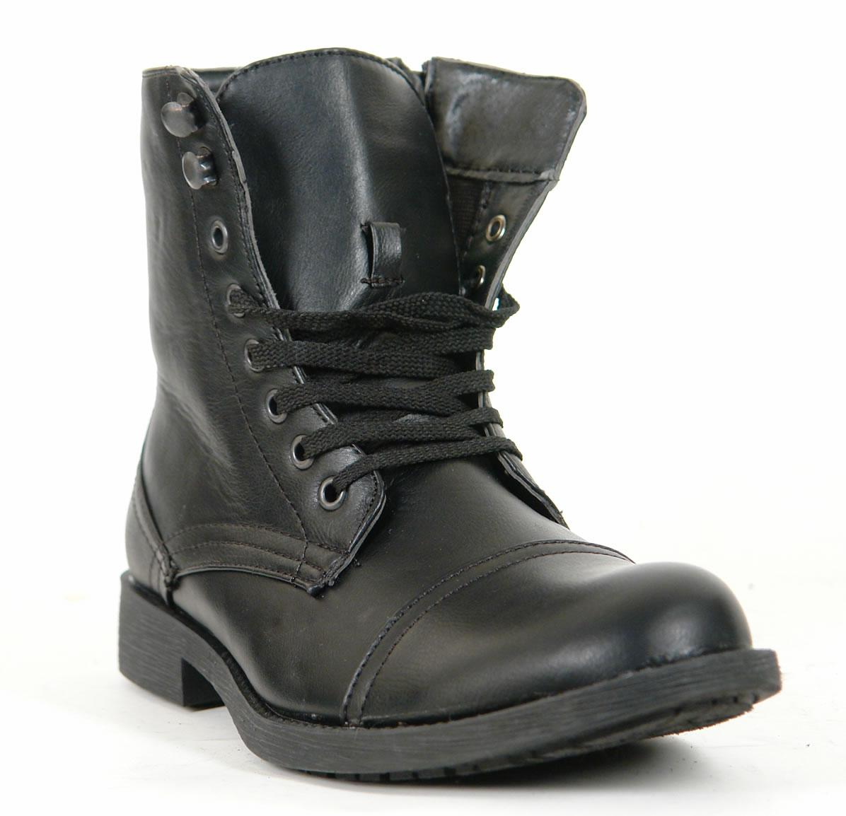 Mens Combat Military Style Boots