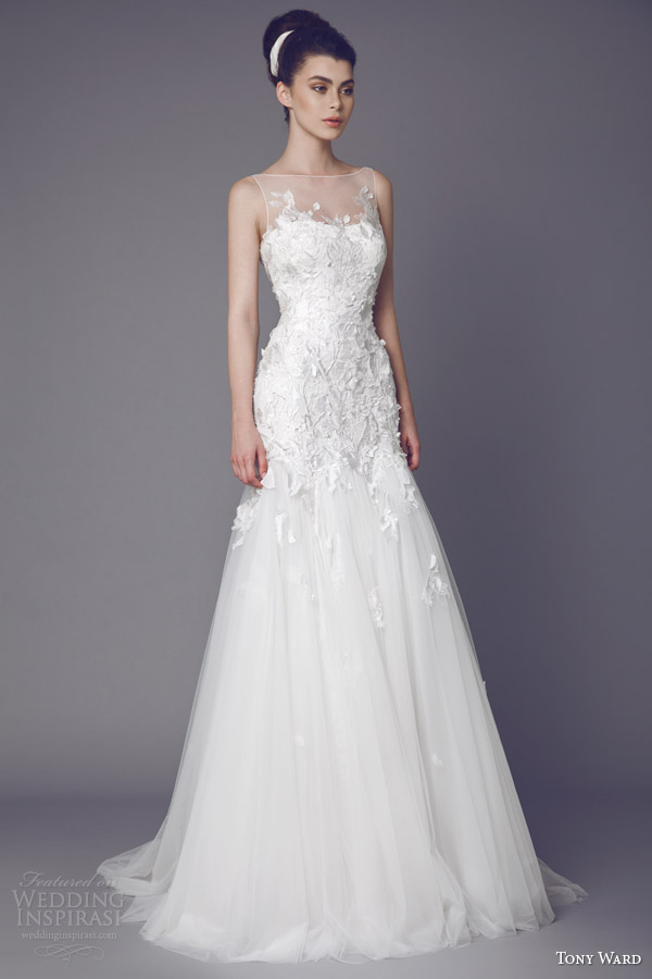 Tony ward bridal 2015 stellaire sleeveless wedding dress