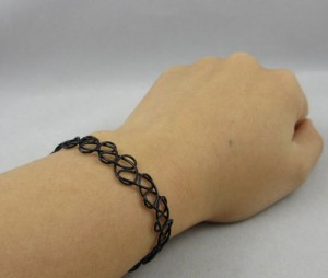 DIY Cool Styles Vintage Magic Hollow Tattoo Bracelet