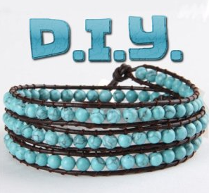 DIY Leather with Beads Bracelet