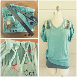 DIY-No-Sew-Lattice-Stud-T-shirt