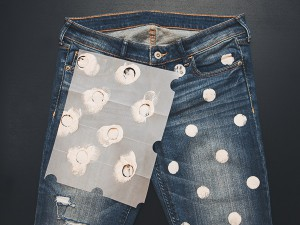 Redesigning Jeans with Polka-Dots