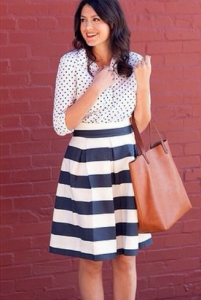 black and white polka stripes4
