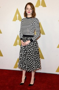 emma-stone-michael-kors-stripes-polka-dots