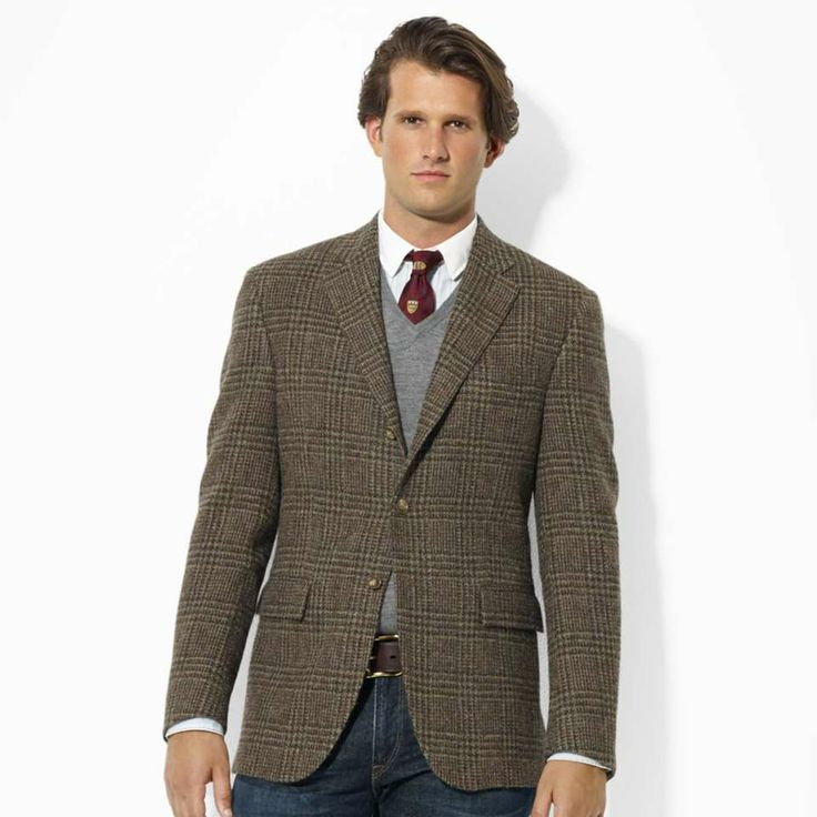 Mens Tweed Sport Coats - Black Coat